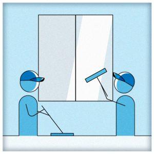 Services de nettoyage professionnel pour les entreprises du secteur tertiaire